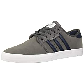 adidas Originals Men's Seeley Sneaker, Grey Five/Collegiate Navy/White, 4.5 M US