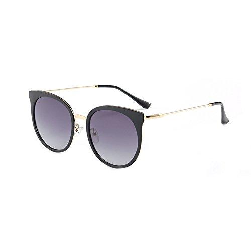 ladies round frame polarized sunglasses trend sunglasses retro driving mirror sunscreen ()