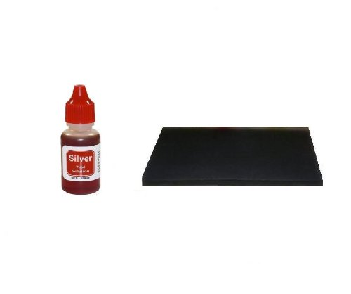 Personal Silver Testing Kit with Large Test Stone Surface- Bottle Contains Half-Ounce Fluid