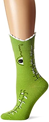 K. Bell Socks Women's Wide Mouth Animal Novelty Crew