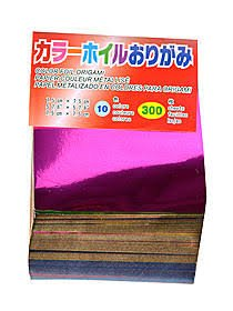 (300 Sheets Color Origami Foil Paper (3 Inch Square))
