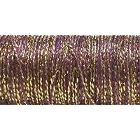 Kreinik No.8 Fine Metallic Braid, 11-Yard, Golden Cabernet