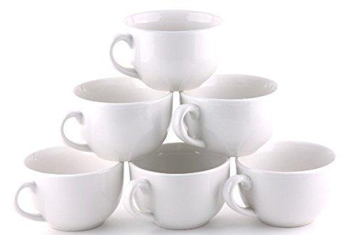 Extra Large Coffee & Latte Mug (Set of 6) (White)  ()