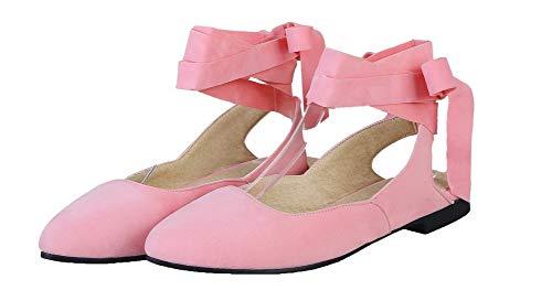 Bas Talon AalarDom d'orteil Femme TSFLH007090 Lacet Unie Sandales Fermeture Rose Couleur à 8IIH6rq