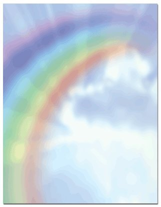 (Price/Pack)Masterpiece Studios 972943 Rainbow Bright Letterhead ()