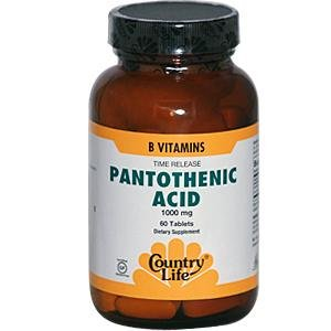 Acide pantothénique Country Life, 1000 mg, 60-Count