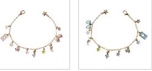 Hotesea 6Pcs/Lot Women Jewelry Accessories Bow Rabbit Charm Bracelet Mixed Equal Qty ()