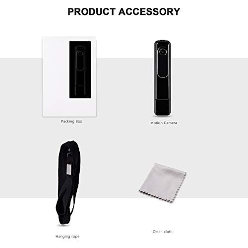 Mini Body Camera with USB Port DZFtech Body Spy Cam HD 1080P Wireless Portable Hidden Spy Pen Body Cameras Wearable Video Recorder with Body Camera for Home/Office