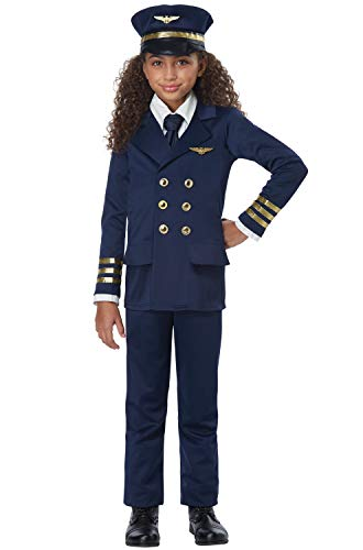 Kids Airline Pilot Halloween Costume size Large 10-12