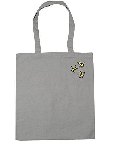 Gym x38cm 10 Shopping Beach Bag Bumblebee Tote Pocket Trio litres 42cm HippoWarehouse Light Grey nXwqCHvaxq