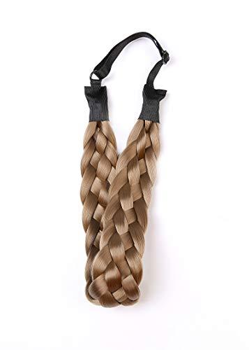 Coolcos Elastic Synthetic Chunky Hair Braid 5 Strands Braids Hair Headbands Plaited Braided Headband (Color C)