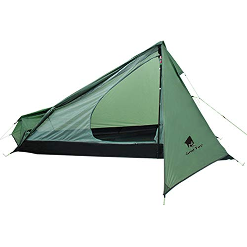 Geertop 1 Person 3-Season 15D Ultralight Backpacking Tent Camping Hiking Climbing (Exclude Trekking Pole)