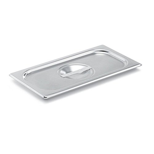 Vollrath Steam Table Pans (Vollrath (75130) Super Pan V Steam Table / Hotel Pan Cover (1/3 Size, Stainless Steel))