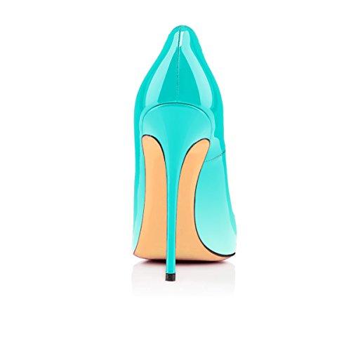 Chaussures Talon Blanc uBeauty vert Taille Femmes Chaussures Talons Aiguille Stilettos Grande Escarpins Femme qCHFEwg