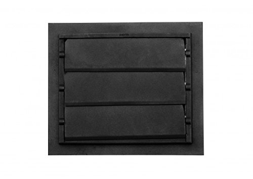 Register Black Aluminum Heat Register Cast Aluminum W/Logo RSF Black by Renovator's Supply (Image #3)