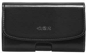 Viesrod LG Thrill 4G Premium High Grade Leather Horizontal Case Removable Clip Magnetic Closure Black