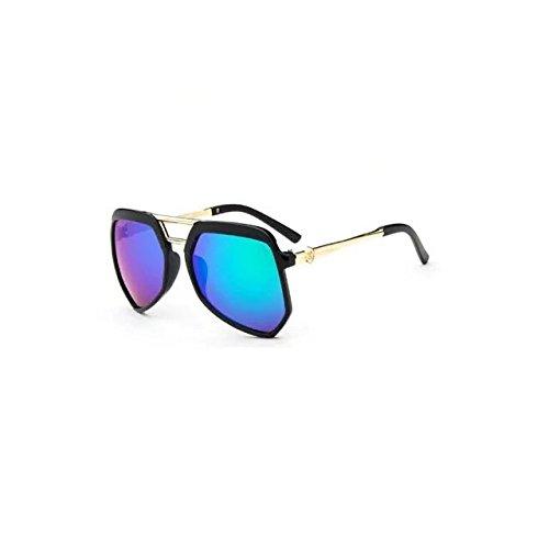 Garrelett Casual Style Kids Sunglasses Reflective Sun Eyewear Eyeglasses Black Frame Green Lens for Girls Boys