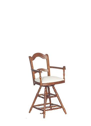 Dollhouse Miniature 1:12 Scale Walnut Victorian Child's Barber Chair #P6415