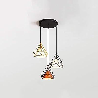 GLJXG Lámpara de techo Araña, Luz De Techo De Hierro Luz De ...