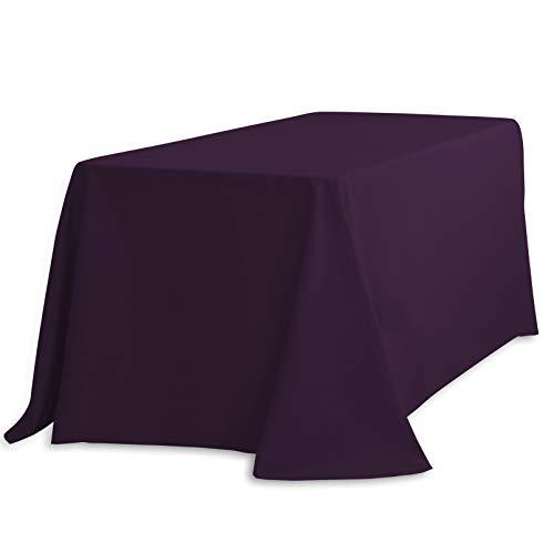 "LinenTablecloth Rectangular Tablecloth, 90 x 132"", Eggplant"