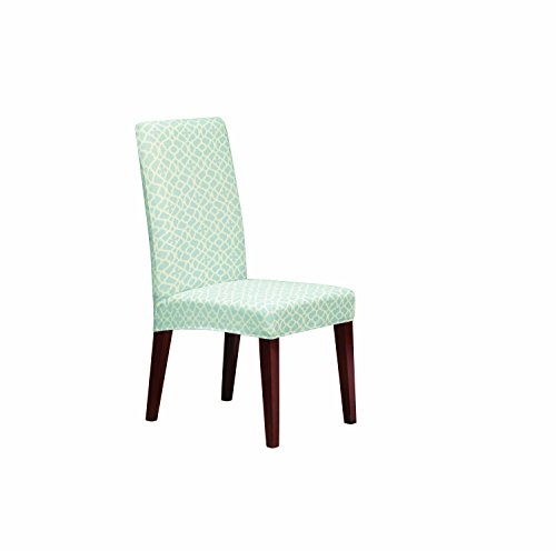(SureFit Stretch Ironwork Print - Shorty Dining Room Chair Slipcover - Light Blue (SF41600))
