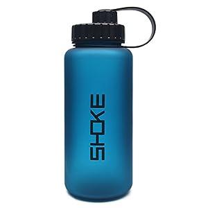 SHOKE Sports Water Bottle, Wide Mouth 1L Large Capacity, BPA Free Tritan Co-Polyester Plastic, 34oz