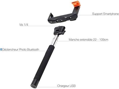 Innovatec Canne Selfie Bluetooth pour Photo Video Noir**
