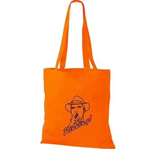 Shirtinstyle Algodón Bolso Tela De Mujer Para Naranja q4P1qxwaW