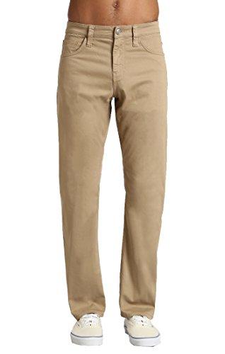 (Mavi Men's Matt Classic Mid-Rise Relaxed Straight-Leg Jeans, British Khaki Twill, 36W X 30L)