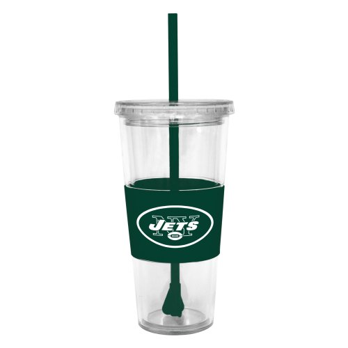 NFL New York Jets Lidded Cold Cup with Straw