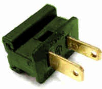 USA Wholesaler - 10879973 - Electrical Plug, male. green, slide-on, SPT-1 Case Pack 50