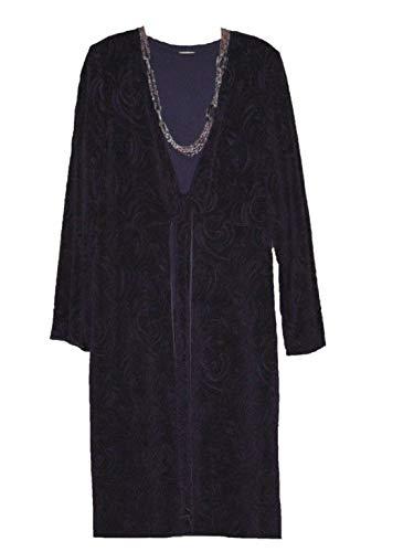 Coldwater Creek Women's Purple Tie-Front fukara Duster Jacket Cruise Work Size ()
