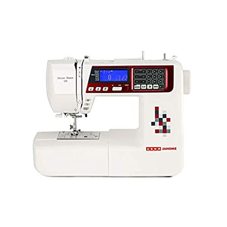 Usha Janome Dream Maker 120 35-Watt Computerized Sewing Machine (White)
