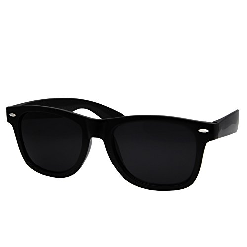 grinderPUNCH Super Dark Black Lens Flat Inspired - Dark Wayfarer Tint Sunglasses
