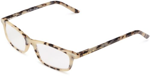 [Kate Spade Jodie Rectangular Reading Glasses,Milky Tortoise 10,50 mm] (Milky White Glass Shade)