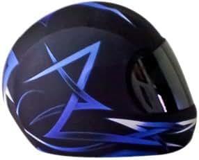 SkullSkins Tribal Motorcycle Helmet Street Skin (Blue)