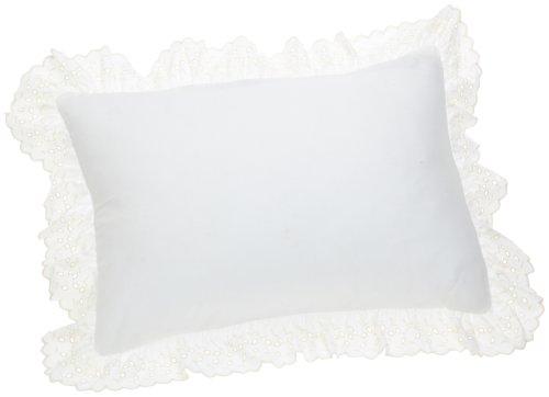 - Fresh Ideas Bedding Eyelet Ruffled Pillow 2 Pack Sham Standard, Ivory