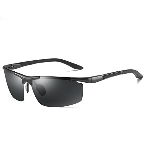 c0885a3d2bc3b LUOMON Wrap-Around Sport Sunglasses for Men with 71mm Semi Rimless Lens  Polarized Sun Glasses LM003