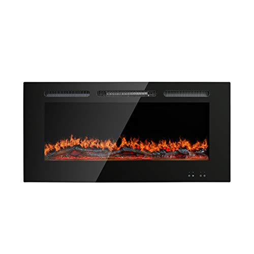 """Stufery Recessed Electric Fireplace- 45""""Wall Remote Contro"""