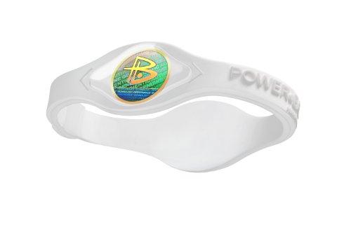 Balance-La puissance bracelet performances originales (Blanc / Blanc, Grand)