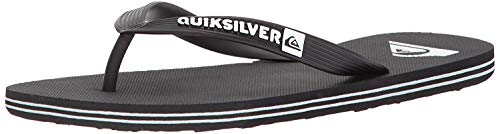 Quiksilver Men's Molokai Sandal, Black/Black/White, 13 M US