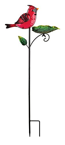 Regal Art & Gift 11.75 Inches X 4.25 Inches X 29.75 Inches Metal/Glass Bird Feeder Stake – Cardinal Review