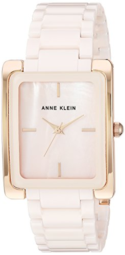 Anne Klein Women's AK/2952LPRG Rose Gold-Tone and Light Pink Ceramic Bracelet ()