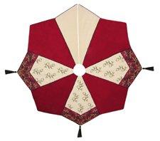 54'' Needlepoint Christmas Tree Skirt, HOLIDAY GARDEN