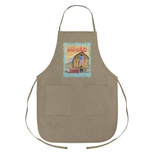 GRAPHICS & MORE Back 40 Barn Keepin' It Rural Early Riser Farm Farming Apron with ()