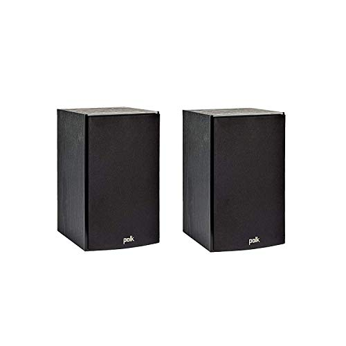 Polk Audio T15 100 Watt Home Theater Bookshelf Speakers (Pair) - Premium Sound at a Great Value | Dolby and DTS Surround | Wall-Mountable (Renewed)