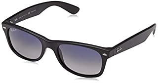 Ray-Ban Unisex New Wayfarer Polarized Sunglasses, Black/Polarized Blue/Grey Gradient, Blue Gradient Grey, 55mm (B0096M7R4A) | Amazon price tracker / tracking, Amazon price history charts, Amazon price watches, Amazon price drop alerts