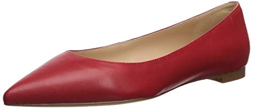Sam Edelman Women's Sally Ballet Flat, Candy Red Leather, 9 M US