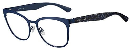 Jimmy Choo JC 189 JOJ Blue Glitter Metal Square Eyeglasses 53mm by JIMMY CHOO