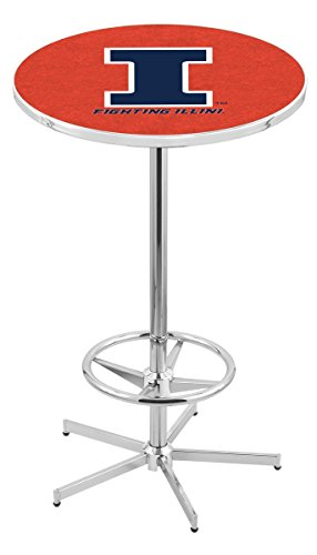 Holland Bar Stool L216C University Of Illinois Officially Licensed Pub Table, 28